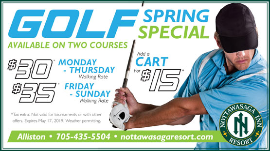 Golf Course Opening Special