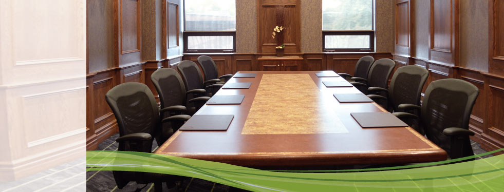 Long boardroom table